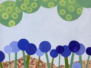 """Periwinkle Parade\"" - Acrylic on Canvas"