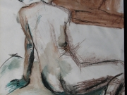 Life-Drawing-8-Figure-on-mat,-Cyndi-Strid,-Artist-126