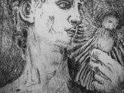 Flirting-with-Antiquity-Western-Mtn-Bluebird,--Etching,-Cyndi-Strid,-Artist.WEB
