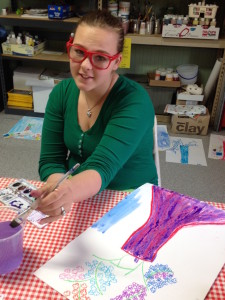 Student explores colors of emotion